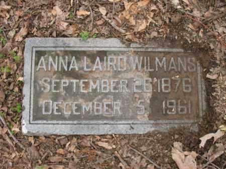 LAIRD WILMANS, ANNA - Jackson County, Arkansas | ANNA LAIRD WILMANS - Arkansas Gravestone Photos