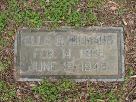 WILMANS, ELLA D - Jackson County, Arkansas | ELLA D WILMANS - Arkansas Gravestone Photos