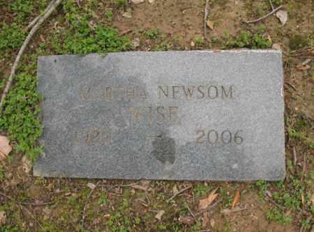 NEWSOM WISE, MARTHA - Jackson County, Arkansas   MARTHA NEWSOM WISE - Arkansas Gravestone Photos