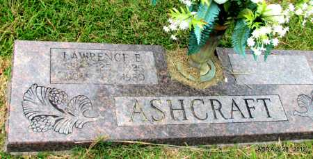 ASHCRAFT, LAWRENCE E - Jefferson County, Arkansas | LAWRENCE E ASHCRAFT - Arkansas Gravestone Photos