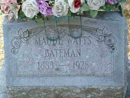 WATTS BATEMAN, MAUDE - Jefferson County, Arkansas | MAUDE WATTS BATEMAN - Arkansas Gravestone Photos