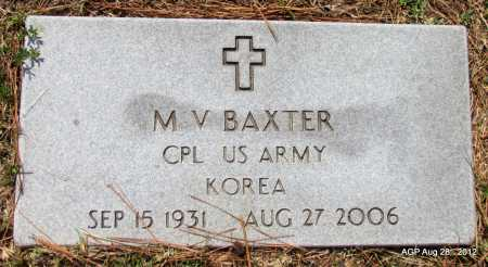 BAXTER (VETERAN KOR), M V - Jefferson County, Arkansas | M V BAXTER (VETERAN KOR) - Arkansas Gravestone Photos