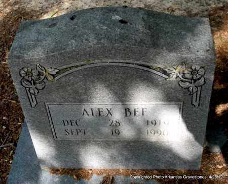 BEE, ALEX - Jefferson County, Arkansas | ALEX BEE - Arkansas Gravestone Photos
