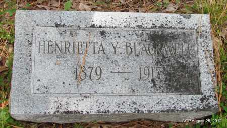 YORK BLACKWELL, HENRIETTA - Jefferson County, Arkansas | HENRIETTA YORK BLACKWELL - Arkansas Gravestone Photos
