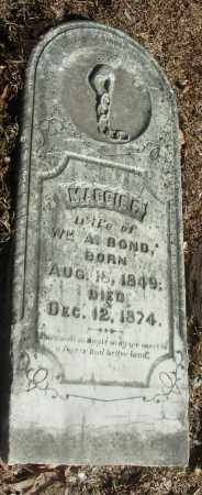 BOND, MAGGIE P. - Jefferson County, Arkansas | MAGGIE P. BOND - Arkansas Gravestone Photos
