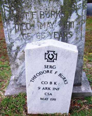 BURKS (VETERAN CSA), THEODORE F - Jefferson County, Arkansas | THEODORE F BURKS (VETERAN CSA) - Arkansas Gravestone Photos