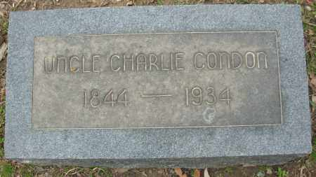 CONDON, CHARLIE - Jefferson County, Arkansas | CHARLIE CONDON - Arkansas Gravestone Photos