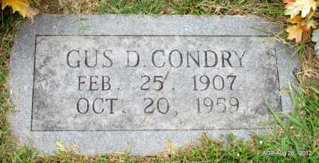 CONDRY, GUS D - Jefferson County, Arkansas | GUS D CONDRY - Arkansas Gravestone Photos