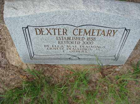 *DEXTER CEMETERY MEMORIAL,  - Jefferson County, Arkansas |  *DEXTER CEMETERY MEMORIAL - Arkansas Gravestone Photos