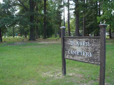*DEXTER CEMETERY SIGN,  - Jefferson County, Arkansas |  *DEXTER CEMETERY SIGN - Arkansas Gravestone Photos