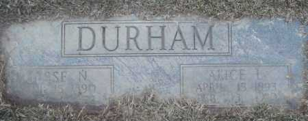TYNER DURHAM, ALICE LOTA - Jefferson County, Arkansas | ALICE LOTA TYNER DURHAM - Arkansas Gravestone Photos