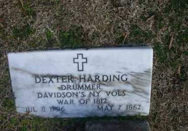 HARDING (VETERAN 1812), DEXTER - Jefferson County, Arkansas | DEXTER HARDING (VETERAN 1812) - Arkansas Gravestone Photos