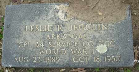 JEGGLIN (VETERAN WWI), LESLIE R - Jefferson County, Arkansas | LESLIE R JEGGLIN (VETERAN WWI) - Arkansas Gravestone Photos