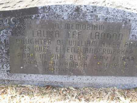 LEE LANDON, LAURA - Jefferson County, Arkansas | LAURA LEE LANDON - Arkansas Gravestone Photos