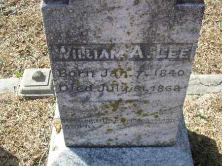 LEE, WILLIAM A. - Jefferson County, Arkansas | WILLIAM A. LEE - Arkansas Gravestone Photos