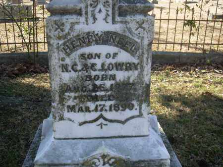 LOWRY, HENRY NEEL - Jefferson County, Arkansas | HENRY NEEL LOWRY - Arkansas Gravestone Photos