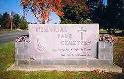*MEMORIAL PARK CEMETERY SIGN,  - Jefferson County, Arkansas |  *MEMORIAL PARK CEMETERY SIGN - Arkansas Gravestone Photos