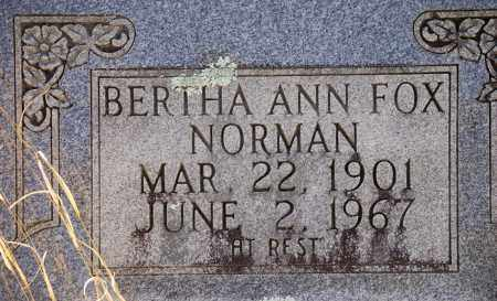 FOX NORMAN, BERTHA ANN - Jefferson County, Arkansas | BERTHA ANN FOX NORMAN - Arkansas Gravestone Photos