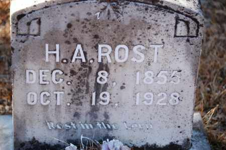 ROST, H. A. - Jefferson County, Arkansas | H. A. ROST - Arkansas Gravestone Photos