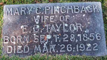 PINCHBACK TAYLOR, MARY C - Jefferson County, Arkansas | MARY C PINCHBACK TAYLOR - Arkansas Gravestone Photos
