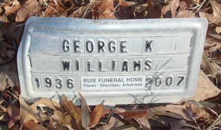 WILLIAMS, GEORGE K - Jefferson County, Arkansas | GEORGE K WILLIAMS - Arkansas Gravestone Photos