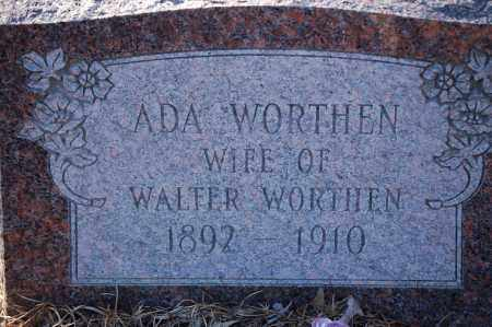 WORTHEN, ADA - Jefferson County, Arkansas | ADA WORTHEN - Arkansas Gravestone Photos