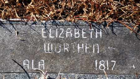 WORTHEN, ELIZABETH - Jefferson County, Arkansas | ELIZABETH WORTHEN - Arkansas Gravestone Photos