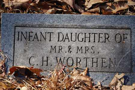 WORTHEN, INFANT DAUGHTER - Jefferson County, Arkansas | INFANT DAUGHTER WORTHEN - Arkansas Gravestone Photos