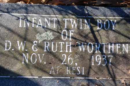 WORTHEN, INFANT TWIN SON - Jefferson County, Arkansas | INFANT TWIN SON WORTHEN - Arkansas Gravestone Photos