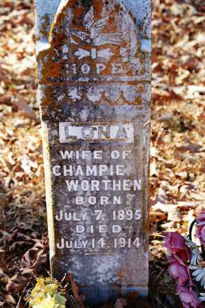 WORTHEN, LONA - Jefferson County, Arkansas | LONA WORTHEN - Arkansas Gravestone Photos