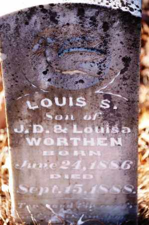 WORTHEN, LOUIS S. - Jefferson County, Arkansas | LOUIS S. WORTHEN - Arkansas Gravestone Photos
