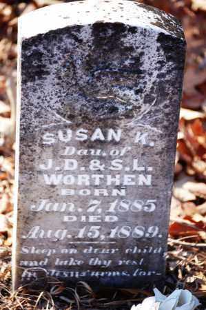 WORTHEN, SUSAN K. - Jefferson County, Arkansas | SUSAN K. WORTHEN - Arkansas Gravestone Photos