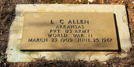 ALLEN  (VETERAN WWII), L  C - Johnson County, Arkansas | L  C ALLEN  (VETERAN WWII) - Arkansas Gravestone Photos
