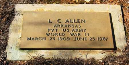ALLEN  (VETERAN WWII), L  C - Johnson County, Arkansas   L  C ALLEN  (VETERAN WWII) - Arkansas Gravestone Photos