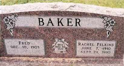 FELKINS BAKER, RACHEL - Johnson County, Arkansas | RACHEL FELKINS BAKER - Arkansas Gravestone Photos