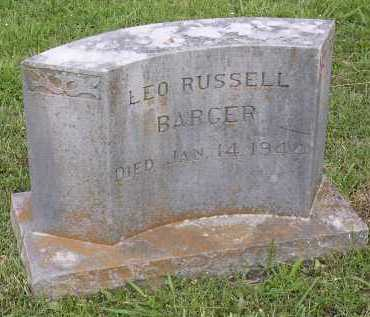 BARGER, LEO RUSSDELL - Johnson County, Arkansas | LEO RUSSDELL BARGER - Arkansas Gravestone Photos