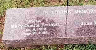 BENNETT, MARY ONETTA - Johnson County, Arkansas | MARY ONETTA BENNETT - Arkansas Gravestone Photos