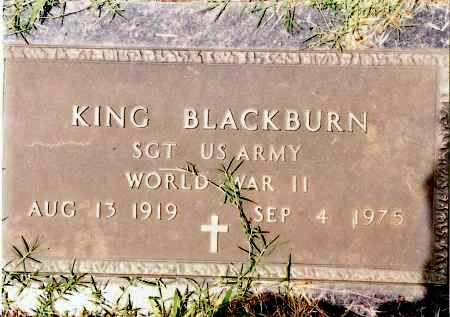 BLACKBURN (VETERAN WWII), KING - Johnson County, Arkansas | KING BLACKBURN (VETERAN WWII) - Arkansas Gravestone Photos