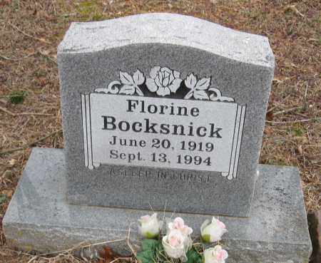BOCKSNICK, FLORINE - Johnson County, Arkansas | FLORINE BOCKSNICK - Arkansas Gravestone Photos