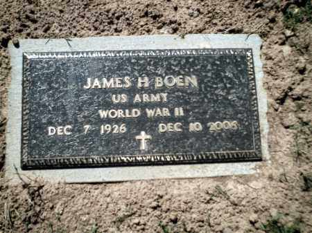 BOEN  (VETERAN WWII), JAMES H - Johnson County, Arkansas | JAMES H BOEN  (VETERAN WWII) - Arkansas Gravestone Photos
