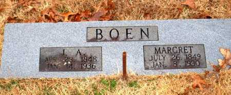 BOEN, J  A - Johnson County, Arkansas | J  A BOEN - Arkansas Gravestone Photos