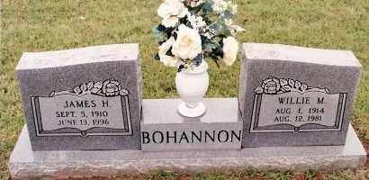 BOHANNON, WILLIE M - Johnson County, Arkansas | WILLIE M BOHANNON - Arkansas Gravestone Photos