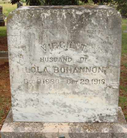 BOHANNON, VIRGIL T. - Johnson County, Arkansas | VIRGIL T. BOHANNON - Arkansas Gravestone Photos