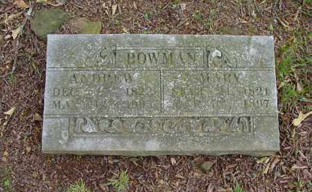 BOWMAN, ANDREW A. - Johnson County, Arkansas | ANDREW A. BOWMAN - Arkansas Gravestone Photos