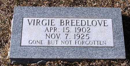 BREEDLOVE, VIRGIE - Johnson County, Arkansas | VIRGIE BREEDLOVE - Arkansas Gravestone Photos