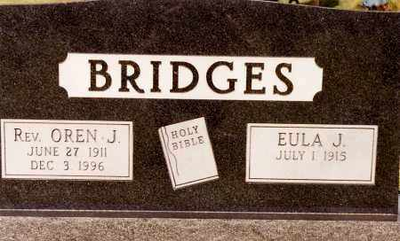 BRIDGES, OREN J, REV - Johnson County, Arkansas | OREN J, REV BRIDGES - Arkansas Gravestone Photos