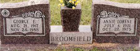 BROOMFIELD, GEORGE E - Johnson County, Arkansas | GEORGE E BROOMFIELD - Arkansas Gravestone Photos