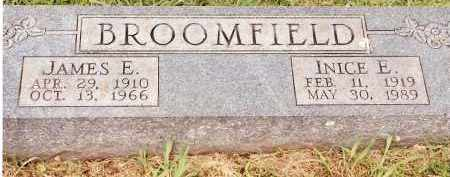 BROOMFIELD, INICE E - Johnson County, Arkansas | INICE E BROOMFIELD - Arkansas Gravestone Photos