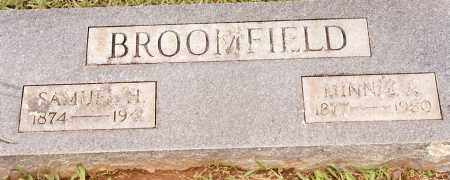 BROOMFIELD, SAMUEL H - Johnson County, Arkansas | SAMUEL H BROOMFIELD - Arkansas Gravestone Photos