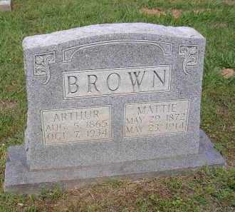BROWN, ARTHUR - Johnson County, Arkansas | ARTHUR BROWN - Arkansas Gravestone Photos